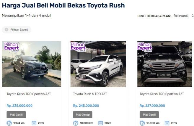 Beli Mobil Toyota Rush Bekas di Seva